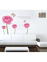 decalques de parede adesivos de parede, flores românticas estilo parede pvc adesivos