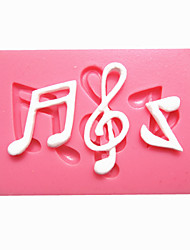 Music Notes Syncopated Sixteenth Note Fondant Cake Molds Chocolate Mould For The Kitchen Baking For Sugar Candy