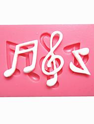 notas da música sincopada XVI nota fondant moldes do bolo de chocolate do molde para o cozimento cozinha para doces de açúcar