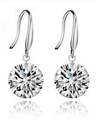 Women's Silver Drop Earrings With Diamond