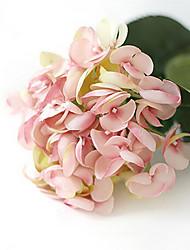 hortensias sirène rose fleurs artificielles set 2