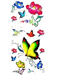 1pc Waterproof Women's Temporary Tattoos Back/Finger/Wrist Tattoos Love Butterfly Collections Body Tattoos(18.5*8.5cm)