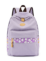 Korean version of the trend of the new lace canvas shoulder bags backpack student backpack Factory Outlet