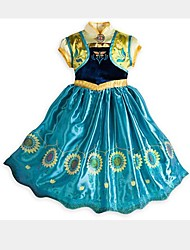 Girl's Summer Cinderella Princess Dress Inelastic Thin Sleeveless Dresses (Organza)