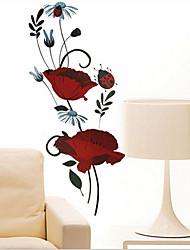 окружающей среды съемный красивая красная роза ПВХ теги&наклейка