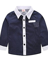 Boy's Fashion Gentleman Bow Tie Wave Point Shirts