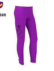 CLUBNEWS™Women's Cotton Violet Fashion Love Fitness Pattern Sports Legging01
