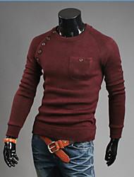 la mode la mode coréenne couleur unie tricots irrégulière mince de martin hommes