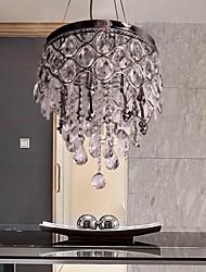 pingente de cristal maishang® luxo luz moderno vivendo 4 luzes