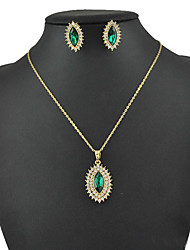 Women's European and American fashion major suit Earrings Necklace Set(1 set)8586-11