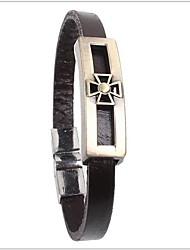 tina - accessoires en alliage de mode en cuir bracelet en partie