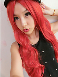 longa peruca de cabelo da moda mundial cosplay quente