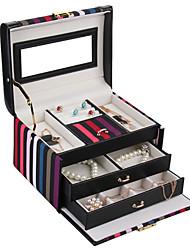 regalo di nozze regali groomsman Faux Leather casella caso gioielli cofanetto braccialetto anello di accumulazione gemelli perline organizzatore