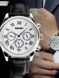 SKMEI® Men's 6 Pointers Dress Watch Japanese Quartz Calendar/Water Resistant Leather Strap Wristwatch