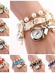 Frauen hängen Bogen Armbanduhr neue Perle Serie Uhren (farblich sortiert) c&d-118