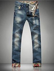 Mode lässig lange Rolle up Jeans Herren-