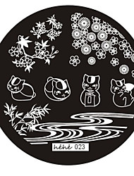 Nail Art Stamp Stamping Image Template Plate hehe Series NO.23