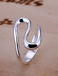Simple S Shape 925 Silver Band Rings(1PC)