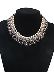 Women Star Style Layers Beads Cluster Bib Statement Necklace