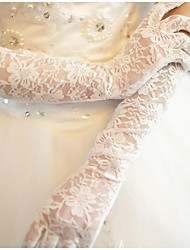 Lace/Voile Elbow Length Finger Wedding/Party Glove