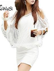 NUO WEI SI ®   Women's Round Neck Korean Style Bodycon  Dress