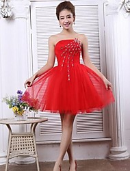 Cocktail Party Dress - Ruby Petite A-line Strapless Short/Mini Tulle