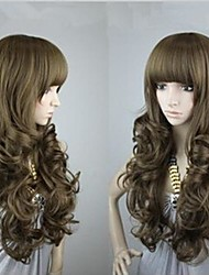 Top Quality Popular Light Brown  Super  Long Wavy Woman's Synthetic Wigs Hair