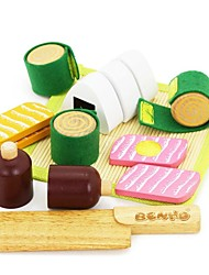 BENHO Rubber Wood Japanese Food Set Wooden Role Playing Toy