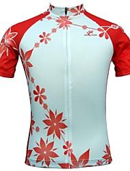 Hauts/Tops / Mailliot de Cyclisme/Vélo Femme Manches courtes Blanc Respirable / Séchage rapide / mèche / Pocket Retour ExtensibleS / M /