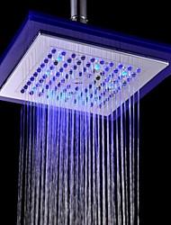 Ducha lluvia Contemporáneo LED/Efecto lluvia ABS Grado A Cromo