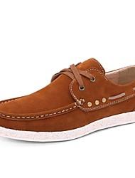Chaussures Hommes Décontracté Marron / Rouge / Marine Faux Daim Chaussures Bateau