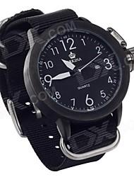 ORKINA W010 Fashionable Quartz Analog Wrist Watch with Simple Calendar for Men - Black  (Black)
