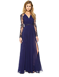 NJEWomen's Vintage/Party Long Sleeve Dresses (Chiffon)