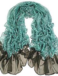 Women Blue-Green Voile Scarves Bali Yarn Scarf Shawls