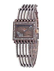 Women's Rectangle Unique Bony Bracelet Watch Quartz Analog Vintage Relogios Feminino