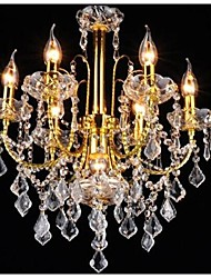 Putian™  Chandeliers Crystal Golden/LED Traditional/Classic Living  /Bed /Dining  /Kitchen/Study   Metal