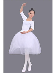Ballet Women's White Half Sleeve Modal 8 Sizes Ballet Skirt /Tutu/Ballerina Skirt