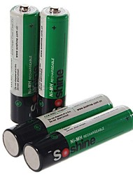 Soshine 1.2V 1100mAh Ni-MH Rechargeable AAA Batteries with Case (4 PCS/Set)