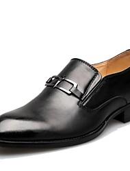 Zapatos de Hombre Boda/Oficina y Trabajo/Casual Cuero Oxfords Negro