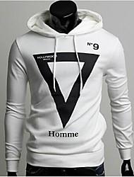 Men's Casual/Sport Print Long Sleeve Activewear Sets (Cotton Blends)
