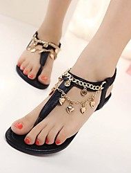 Women's Shoes Flat Heel Slingback Sandals Casual Black/Gold