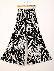 pantalones sueltos de impresión elegante mujeres de la moda