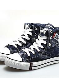 Scarpe da uomo - Sneakers alla moda - Casual - Di corda - Nero / Blu