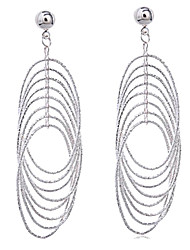 Women's 2014 Brazil Style Fashion Wild Plated Rhodium Multiple Circular Enthusiastic Earrings