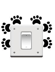 Switch Wall Stickers Wall Decals, Cartoon Feet PVC Switch Sticker