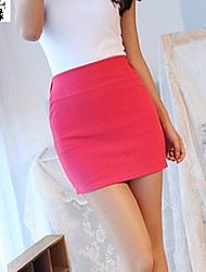 Women's Pink/Yellow Skirts , Sexy/Bodycon/Work Above Knee