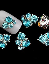 Blue Lovely/Wedding Finger/Toe Nail Jewelry/Glitter Metal 5PCS 4*3*1