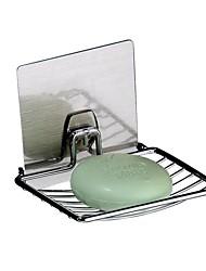 Magic Sticker Chromed Metal Soap Rack T03SH/ Receive Casket  /Traceless Sticker Soap Dish