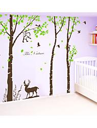 adesivos de parede adesivos de parede, grande árvore com adesivo de parede macaco veado