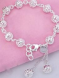 Bracelet ( Argenté ) Chaîne - pour Unisexe